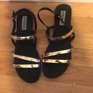 Steve Madden gold strapped sandals